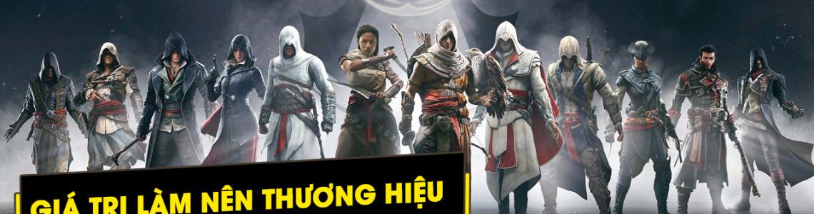 Giá trị nào tạo dựng nên thương hiệu của dòng game Assassin's Creed?