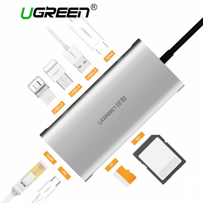 Ugreen Type-C to HDMI RJ45 SD Card 2 x USB 3.0 (PD)