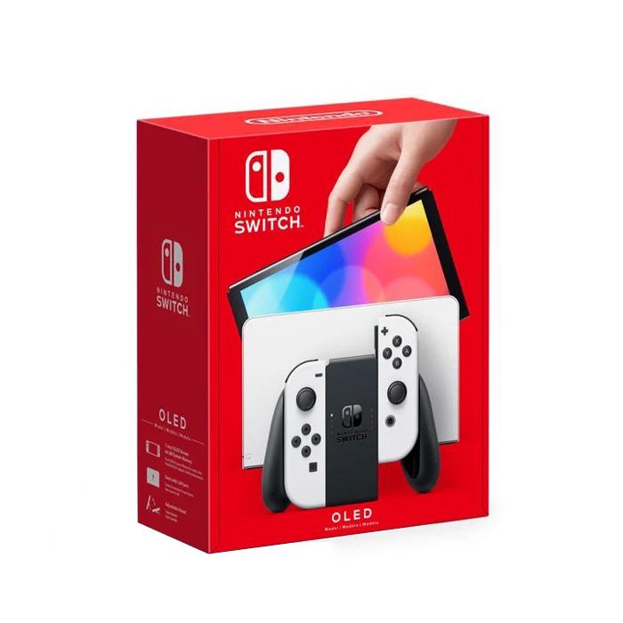 Nintendo Switch OLED model with White Joy‑Con
