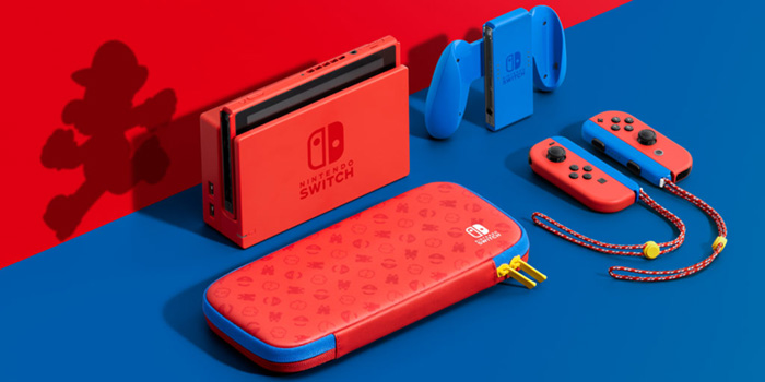 New Nintendo Switch - Mario Red & Blue Edition
