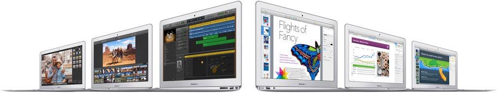 Bộ ứng dụng phong phú dành cho Macbook Air.